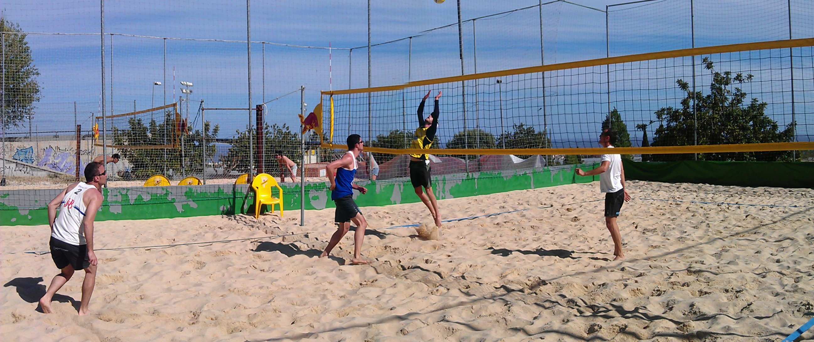 Partido voley playa